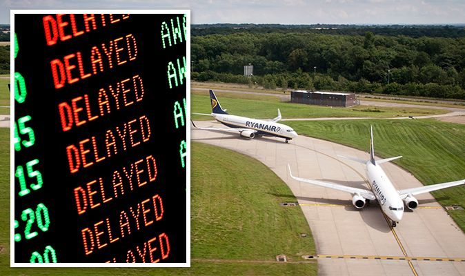 Ryanair: Delayed flights this morning affect nearly half of