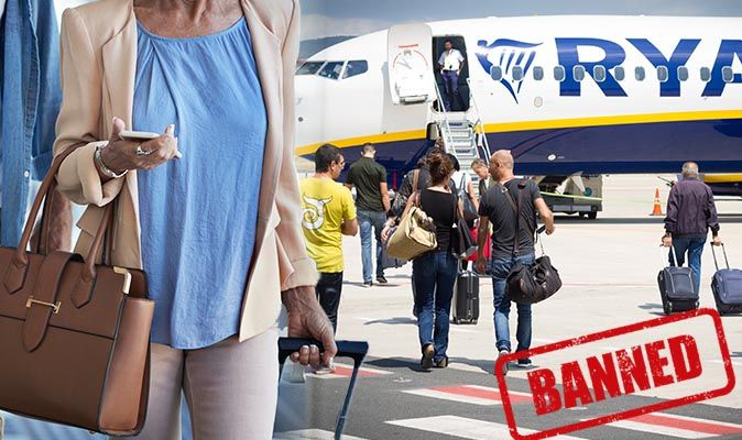 Ryanair flights: Five items BANNED from hand luggage