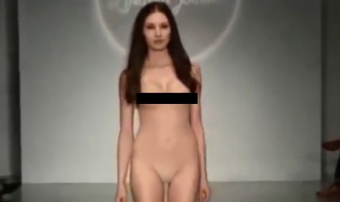 Fully exposed see through lingerie photos Catwalk Model Left Mortified As She Struts Down The Runway In See Through Underwear Express Co Uk