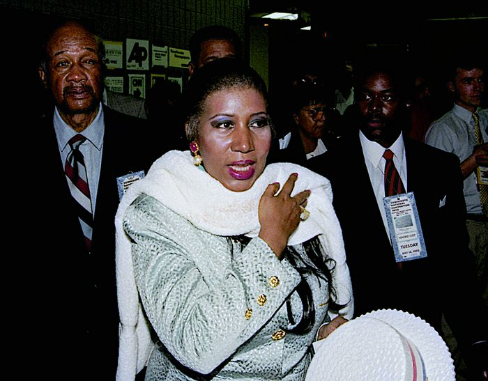 1231a06862c Has Michael Jackson worked with gospel legend Aretha Franklin