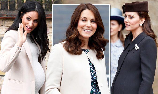 27ef9b74408 Meghan Markle news  Kate Middleton pregnancy style compared ...